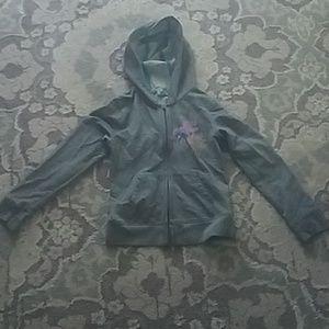 Gray Roxy zip hoodie
